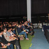 Marcos Márquez, Vicepresidente de Mina de Collahuasi, dando la bienvenida.