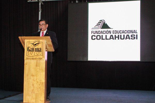Gustavo Soto, rector Universidad Arturo Prat, inaugurando la cátedra.
